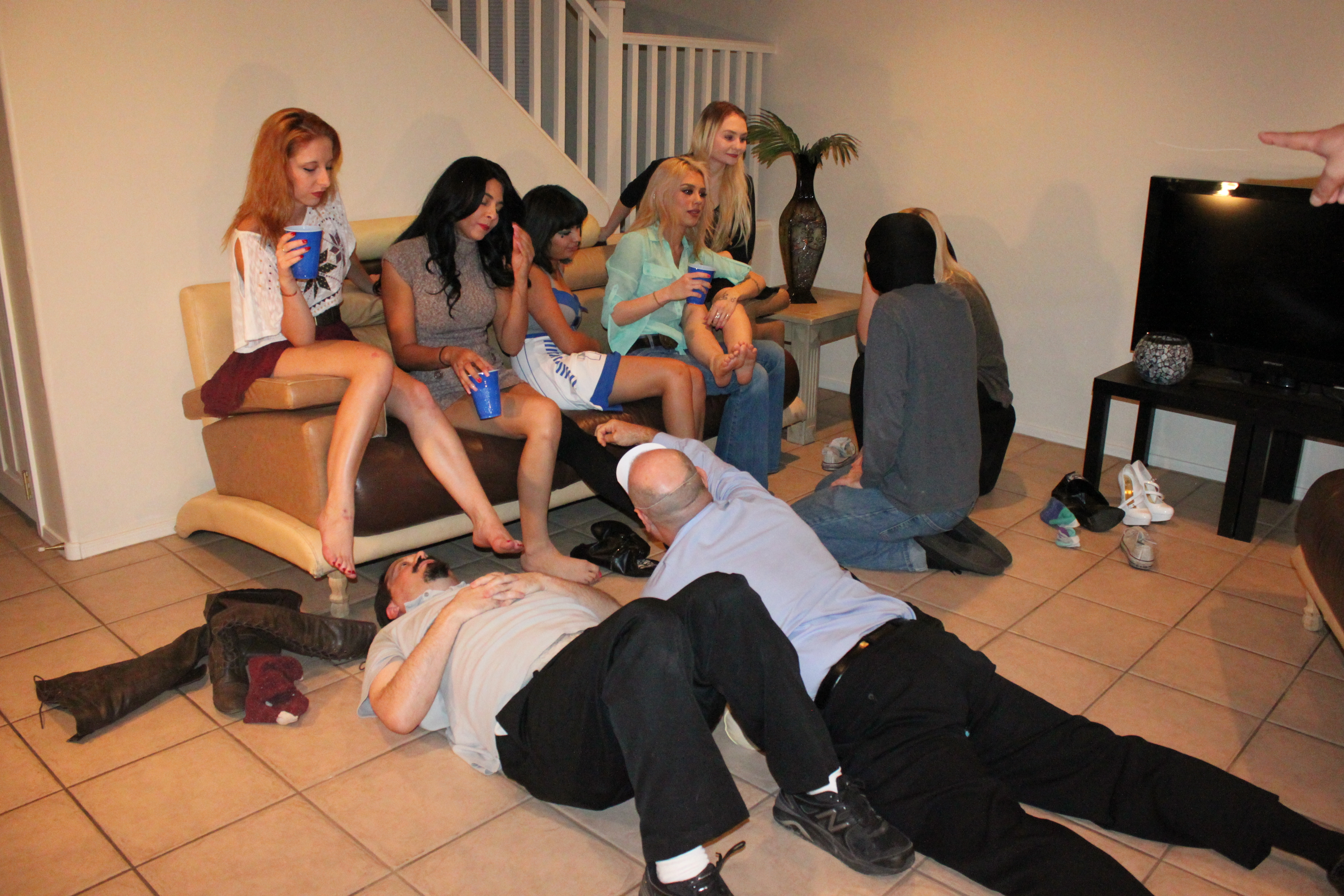 Foot party sex