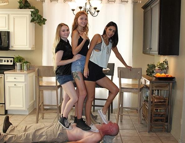 Jessica Valentino's Teen Babysitting Cheerleader Femdom Ballbusting Blowjob